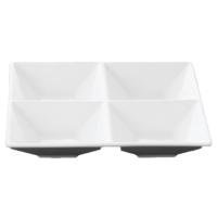 Wilmax 4 Bölmeli Kare Tabak 20,5x20,5 cm