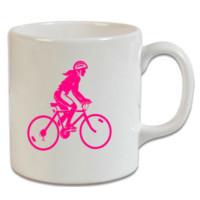 XukX Kupa Pembe Bisikletli Kız Kupa