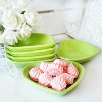 Keramika Çerezlik Kalp 13 Cm Yeşil