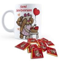 BuldumBuldum Kupa Dolusu Ayıcıklı Aşk Çikolatası