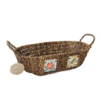 Kanca Ev Oval Yayvan Ekmek Meyve Sepeti Çiçek Büyük