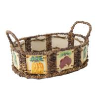 Kanca Ev Oval Etrafı Seramik Döşeli Ekmek Meyve Sepeti Sebze