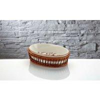 İhouse Rx12 Porselen Hasırlı Fırın Kabı Beyaz