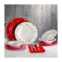Laviva Punto 24 Parça Yemek Seti Kırmızı
