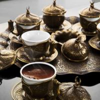 Sena Tiryaki Fincan Kahve Seti 6 Kişilik H 06