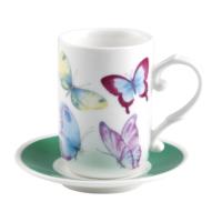 Biev Kelebekli 6 Kişilik Kahve Seti