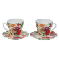 LunArt 2 li Bone China Fincan Seti (Çiçekler ve Kirazlar)