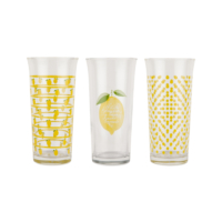 Tantitoni 6 Parça Limon Desenli Meşrubat Bardağı Takımı