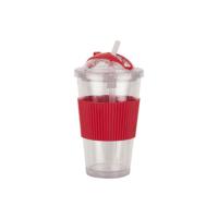Tantitoni Kırmızı Sportif Pipetli Bardak - 480 ml