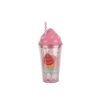 Tantitoni Plastik Dondurma Şekilli Pembe Su Şişesi