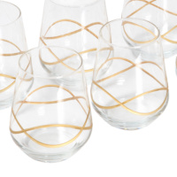 Altın Bordürlü Meyve Suyu Bardağı 11 cm