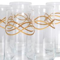 Altın Bordürlü Meyve Suyu Bardağı 15 cm