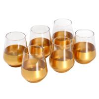 6lı Alt Kısmı Altın Renkli Meyve Suyu Bardağı 11 cm