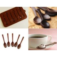 Toptancı Kapında Kaşık Şeklinde Silikon Çikolata Kalıbı