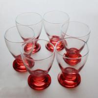 Başak 41011 Çın Çın 12 Adet (Kırmızı) Su-Meşrubat Bardağı