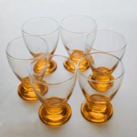 Başak 41011 Çın Çın 12 Adet (Turuncu Papatya) Su-Meşrubat Bardaği
