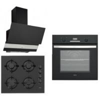 Esty 3'lü Black Ankastre Set(EF 6175 Dijital Siyah Ankastre Fırın + ACO5335B01 Siyah Cam Ankastre Ocak + 3420 Siyah Dekoratif Cam Davlumbaz)