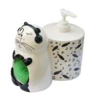 Cats By Luyano Sıvı Sabunluk-Süngerlik