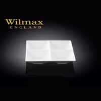 Wilmax 4 Bölmeli Kare Tabak, 15,5*15,5Cm.