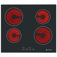 Eminçelik VC 640 4 Gözü Elektrikli Vitro Seramik Siyah Cam Ankastre Ocak