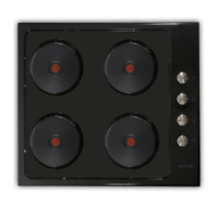 Elleti Incasso 32252 4 Gözü Elektrikli Siyah Ankastre Ocak