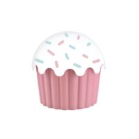 Aroni Cupe Cake Saklama Kabı - Pembe 550 Ml