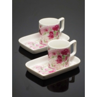 Kitchen Love Porselen 2'li Lokumluklu Kahve Takımı