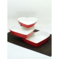 Kitchen Love Porselen 3 Lü Kalp Fırın Kabı