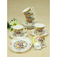 Kitchen Love Bone Porselen 6 Lı Markiz Kahve Fincan Takımı
