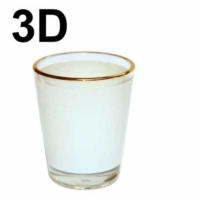 Bk Süblimasyon Cam Tekila Bardağı ( 3D )