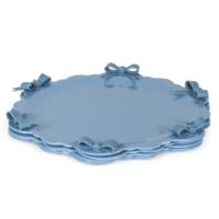 Kek Dilimi Tabağı Eskitilmiş Mavi