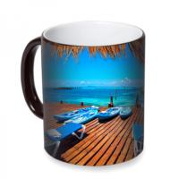 Fotografyabaskı Karayip Denizi Guatemala Sihirli Siyah Kupa Bardak Baskı