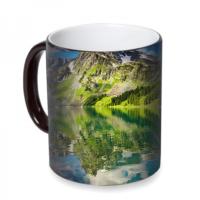 Fotografyabaskı Dağ Gölü Sihirli Siyah Kupa Bardak Baskı