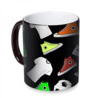 Fotografyabaskı Futbol Kıyafetleri Sihirli Siyah Kupa Bardak Baskı