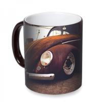 Fotografyabaskı Vw Beetle Classic Sihirli Siyah Kupa Bardak Baskı