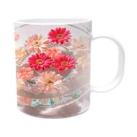 Fotografyabaskı Fanustaki Çiçekler Beyaz Kupa Bardak Baskı