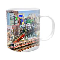 Fotografyabaskı Tokyo Treni Tokyo Beyaz Kupa Bardak Baskı