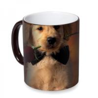 Fotografyabaskı Romantik Köpek Sihirli Siyah Kupa Bardak Baskı