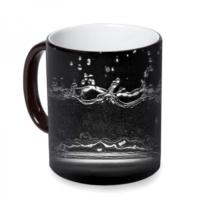 Fotografyabaskı Suyun Sıçraması Sihirli Siyah Kupa Bardak Baskı