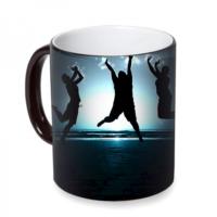 Fotografyabaskı Sevinç Sihirli Siyah Kupa Bardak Baskı