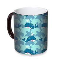 Fotografyabaskı Sevimli Balinalar Sihirli Siyah Kupa Bardak Baskı