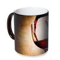 Fotografyabaskı Şarap Kadehi Sihirli Siyah Kupa Bardak Baskı