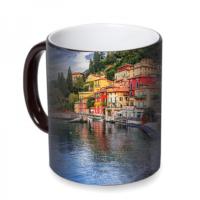 Fotografyabaskı Como Gölü İtalya Sihirli Siyah Kupa Bardak Baskı