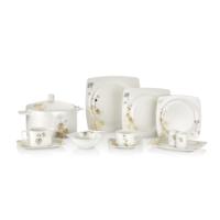 Güral Porselen 85 Parça Kare Bone Yemek Takımı 101