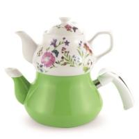 Schafer Tee Garten Emaye Çaydanlık Yeşil