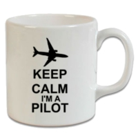XukX Dizayn Keep Calm I Am Pilot Kupa