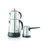 Arzum AR3007 Ehlikeyf Delux Çay Ve Kahve Robotu Seti - Parlak Inox