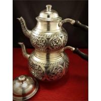 Sonay Bakırcılık Ağır Kesme İşlemeli Eskitme Topak Bakır Çaydanlık
