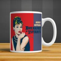 İf Dizayn Audrey Hepburn Baskılı Kupa Bardak