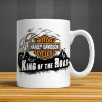 İf Dizayn Harley Davidson Baskılı Kupa Bardak
